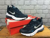 NIKE AIR MAX 270 REACT OBSIDIAN BLUE TRAINERS CHILDRENS LADIES RRP £95 T