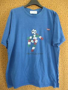 Tee Shirt Carrera calcio italia 90 football Maglia vintage mascotte - L