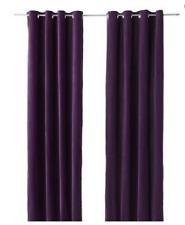 """IKEA Purple SANELA 56x98"""" Set of 2 Grommet Curtain Panel Drapes (RF1033)"""