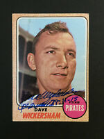 Dave Wickersham Pirates signed 1968 Topps baseball card #288 Auto Autograph 6