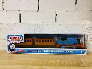 Thomas, Annie & Clarabel Motorised Trackmaster Trains - Brand New - Not Tomy