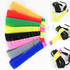 24pcs Hook and Loop Marker Straps Wire Wrap PC TV Laptop Organiser Cable Ties