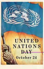 United Nations Day October 24 Postcard  1953 Poster