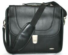 SAMSONITE Black Pebbled Leather Laptop Travel Portfolio Shoulder Bag NEW! L@@K!