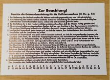 Reproduction WWII German Enigma Machine Instructions