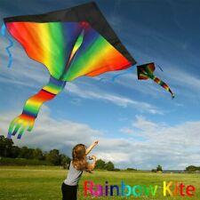 Rainbow Kite 100M Drachenschnur und Spannweite Großer Kinder Drachen 210T DHL ~~