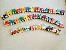 WOODEN MAGNETIC NAME TRAIN ALPHABET LETTERS (EA) - YOU SELECT LETTERS OR TRAINS