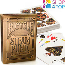 BICYCLE BRONZE GOLD STEAMPUNK PLAYING CARDS DECK BY THEORY 11 MADE IN USA NEW