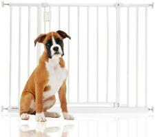 More details for safetots extra wide pet hallway dog safety stair gate white 97cm - 152.6cm