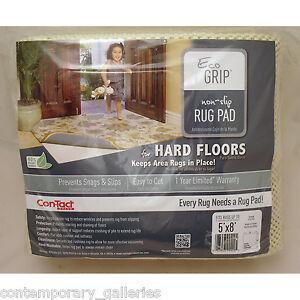 Eco Environmentally Friendly Cushioned Rug Pad Underlay for Hardwood Floors 5x8