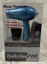 NEW Babyliss PRO Nano Titanium Folding Travel Hair Dryer BABNT053T New In Box