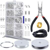 Jewelry Making Kit Silver Sterling Beading Repair Tools Craft Supplies Bead DIY