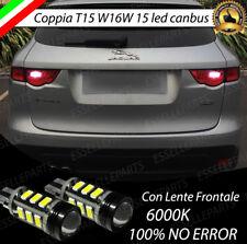 LAMPADE RETROMARCIA 13 LED T15 W16W CANBUS JAGUAR F-PACE 100% NO ERRORE