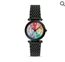 Fossil Limited Edition Lyric Three-hand Black Stainless Steel Watch Rainbow