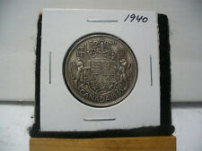 1940  CANADA  SILVER  HALF  DOLLAR  50 CENT PIECE   40    GOOD GRADE