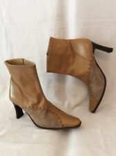 Gardone Brown Ankle Leather Boots Size 37