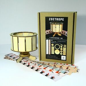 Zootrope zoetrope. Optical animation pre-cinema toy. Wood Model