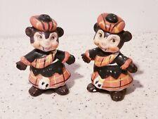 Vintage Japan Monkeys in Tartan Kilts Salt & Pepper Shakers