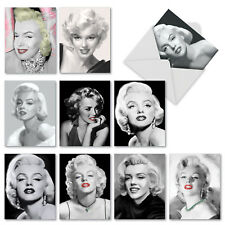 M2976 Some Like It Hot: 10 Assorted Thank You Note Cards w/White Envelopes.