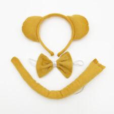 Brown Bear Animal Set Kit Jungle Headband Ears Bow Tie Tail Costume Child Adults