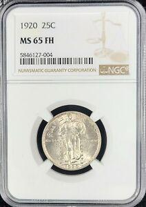 1920 Standing Liberty Quarter NGC GEM MS65FH Full Head STUNNING PQ!