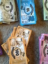 Monopoly Game, Simpsons Edition. Batch Of Play Money. Genuine Parker Games Parts