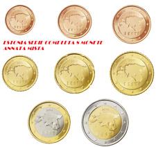 ESTONIA EESTI SERIE COMPLETA 8 MONETE EURO  F.D.C. U.N.C. DA ROLLS