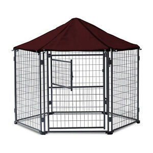 NeoCraft 60101 My Pet Companion Outdoor 5.5 Feet Dog Kennel with Canopy, Maroon