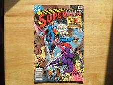 1978 VINTAGE SUPERMAN # 322 SIGNED 2X JOSE GARCIA-LOPEZ & MARTY PASKO, WITH POA