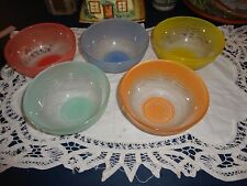 5 Vintage Harlequin Swirl Frosted Glass Sweet Dishes