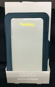 """Heyday Running Phone Armband~ Spruce Blue~ For Smartphone Screens up to 6.5"""" NEW"""