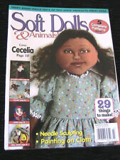 SOFT DOLLS & ANIMALS~March 2005 cloth doll patterns~techniques~tips magazine