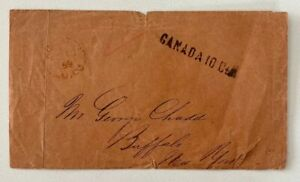 1859 Canada 10cts Cancel Kingston UC to Buffalo New York WOW