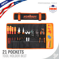 Large Tool Roll Up Pouch Bag Wrench Organizer 21 Pockets Easy Storage & Portable