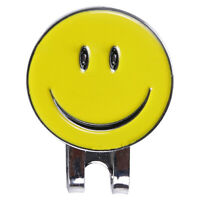 Smile Face Magnetic Hat Clip Golf Ball Marker Clip Visor On Golf 2 Colors C U9N3