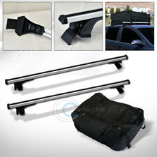 "55"" SILVER WINDOW FRAME ROOF RACK CROSS BAR KIT+WATERPROOF CARGO CARRIER BAG C07"