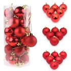 3/4/6/8CM Christmas Xmas Tree Ball Bauble Hanging Party Ornaments Decoration