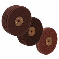 "6"" Fine / Medium / Coarse Scotchbrite Rust Paint Removal Polishing Mop"