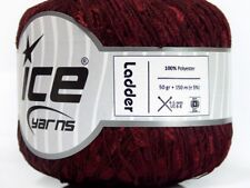 HalfPrice Burgundy Ladder Ribbon Yarn Ice 34121 Rung-Smush Defect Every So Often
