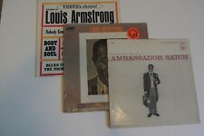 "3 Louis Armstrong LP's~""Ambassador Satch ""-""Best Of""-""Louis Armstrong""-1956-1964"