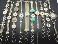 Women Fashion Ginger Snap Charm Bracelet Jewelry Fit 18mm Snap Button 10pcs/Lot