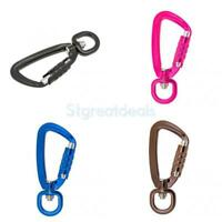 Carabiner D-Ring Key Chain Clip Hook Outdoor Hiking Buckle w/ Rotating Ring