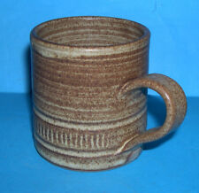 G.S Studio Pottery - Attractive 'Can Style' In Natural Tones Glaze Mug (M.Mark)