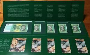 1988 LAST $2 NOTE ISSUE in GREEN NPA FOLDERS x 5..NAA BRISBANE COIN FAIR..SCARCE
