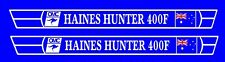 HAINES HUNTER Boat  Vinyl  cut decals TWO (2)  1200 x 100 each CHOOSE YOUR MODEL