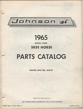 1965 JOHNSON SKEE-HORSE SNOWMOBILE PARTS MANUAL