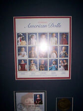 Stamps American Dolls 15 First Day Issue From USPS Wood Frame #696 July 1997 New