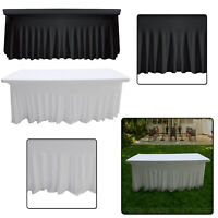190GSM Skirt Style Rectangle Table Cover 6ft Spandex Stretch Cover Wedding Party