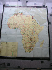 School Wall Map Africa Africa mining industry 160x182 1968 Vintage Wall Card Map