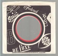 Company Sleeve 45 FEDERAL / KING / STARDAY / BETHLEHEM / DE LUXE / LOOK Black/Re